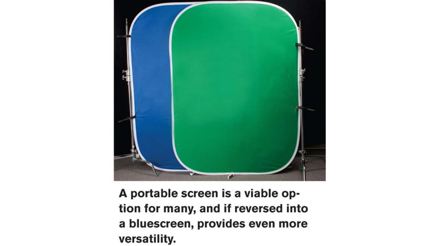 Portable fabric screens