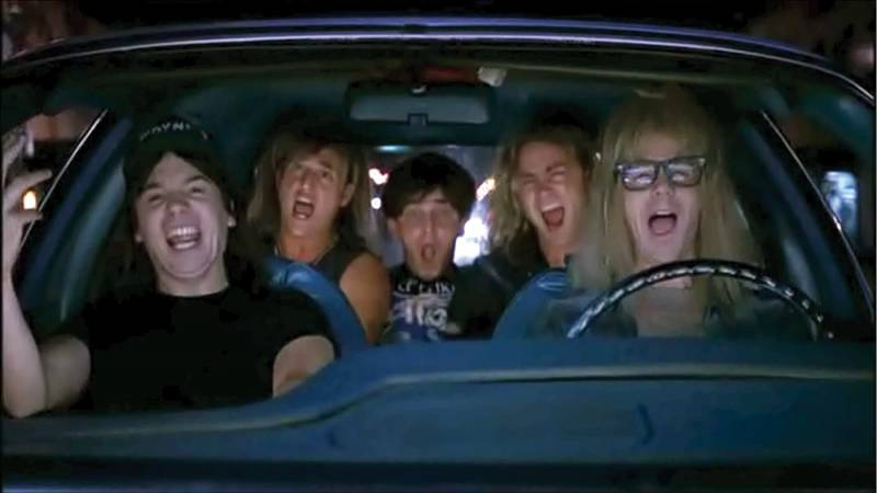 Wayne's World Queen's Bohemian Rhapsody sceen used as an example of diegetic