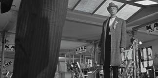 Extreme low angle shot from Citizen Kane.