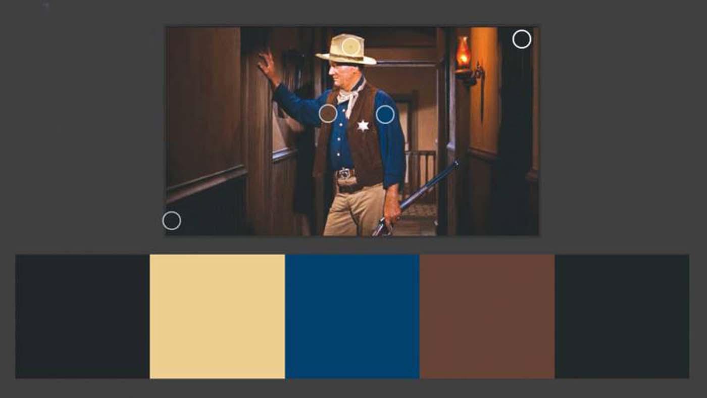 """""""Rio Bravo"""" color theory example"""
