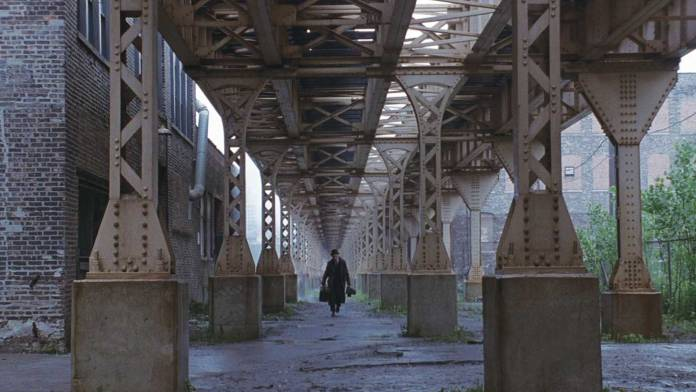 Photo of scene from Road to Perdition (2002) showing good composition terms