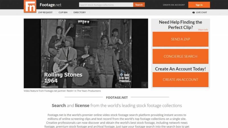 footage.net website