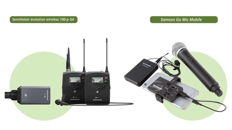 Sennheiser evolution wireless 100-p G4 and Samson Go Mic Mobile