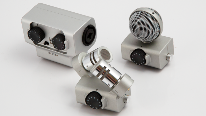 Additional mic modules are available
