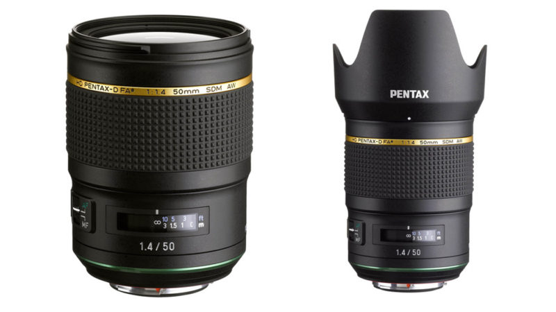 Two images of Pentax's 50mm f/1.4 SDM AW