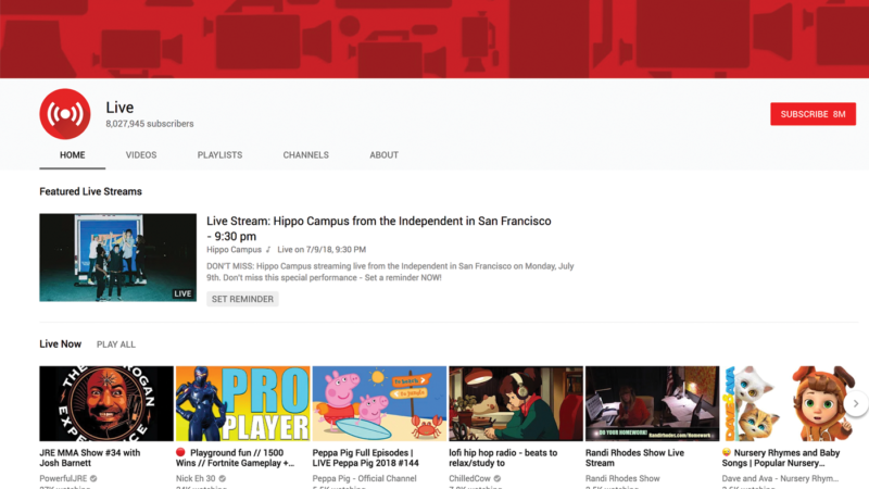 Making use of YouTube's live broadcasting feature can be a great way to build engagment since it allows you to interact with your viewers in real time.