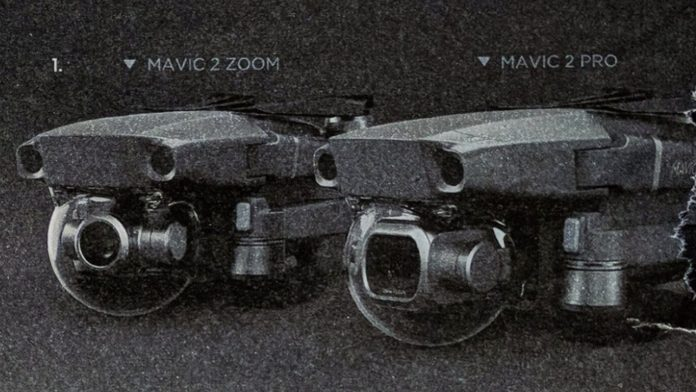 Images of the two versions of the Mavic 2 drone