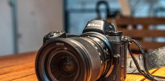 Nikon Z 7 with lens attached
