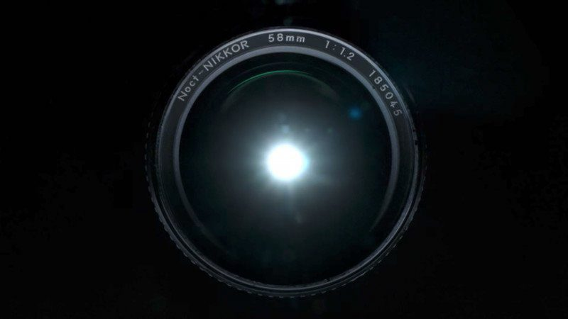 The Noct-Nikkor 58mm f/1.2 in the video