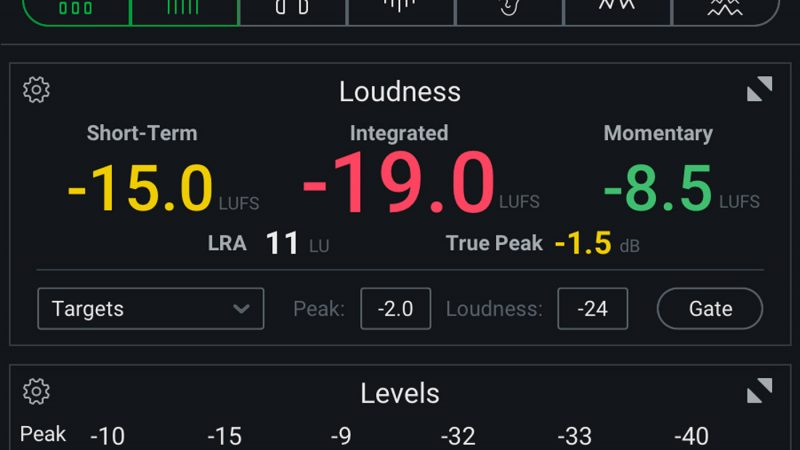 Loudness settings in Insight 2