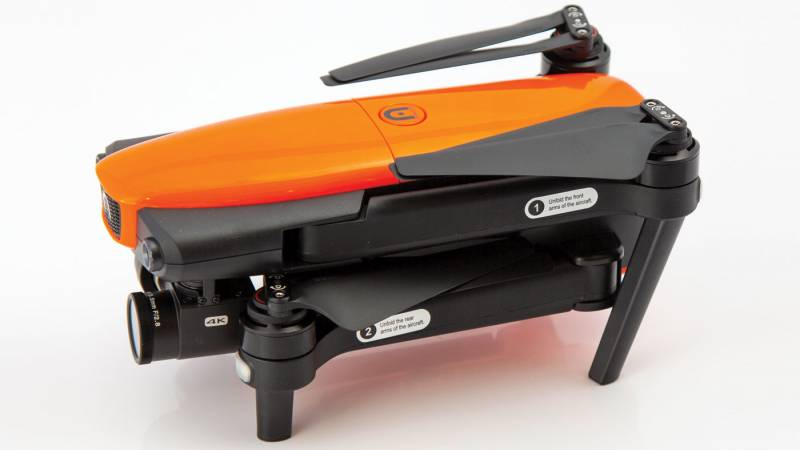 Autel Robotics EVO, folded side-view
