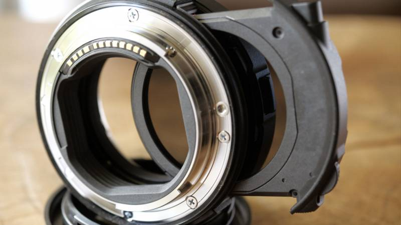 Lens adapter with ND filter built in