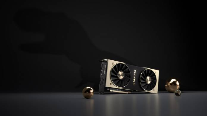 Nvidia Titan RTX with black background