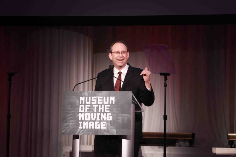 Carl Goodman presenting at the Museum of the Moving Image