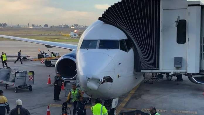 Boeing 737 passenger jetliner was possibly hit by a drone last week