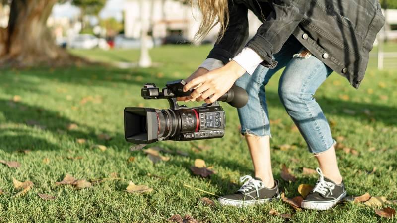 Filmmaker using AG-CX350