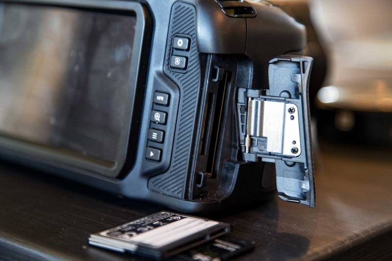 Media card slots for the Pocket Cinema 4k. SD and C fast2.0 slots.