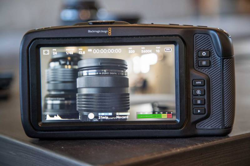 Rear Screen of the camera
