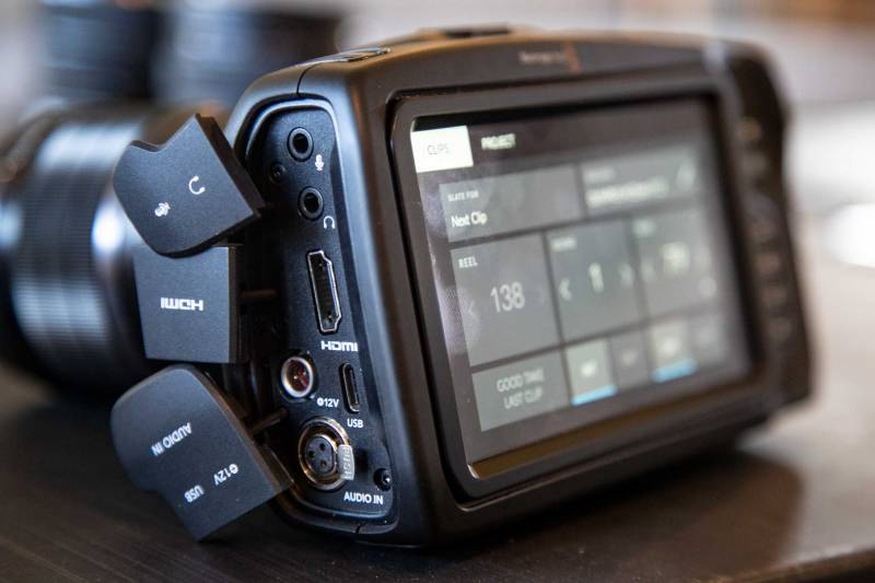outputs and ports of the BMPC 4k and their covers.