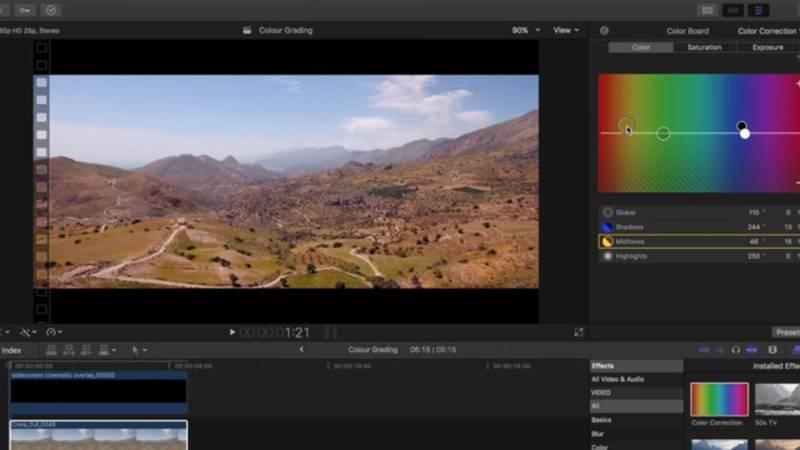 Footage being edited