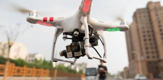 Drone without drone ID numbers displayed