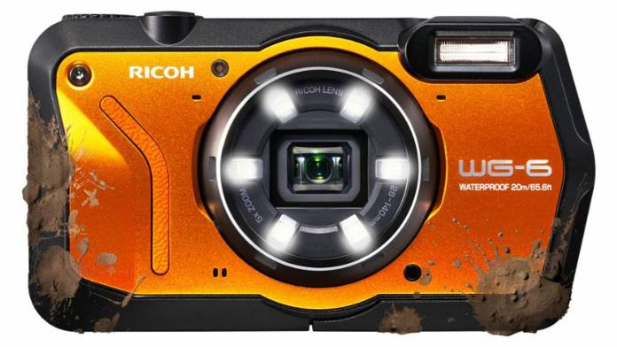 Ricoh WG-6 covered in mud