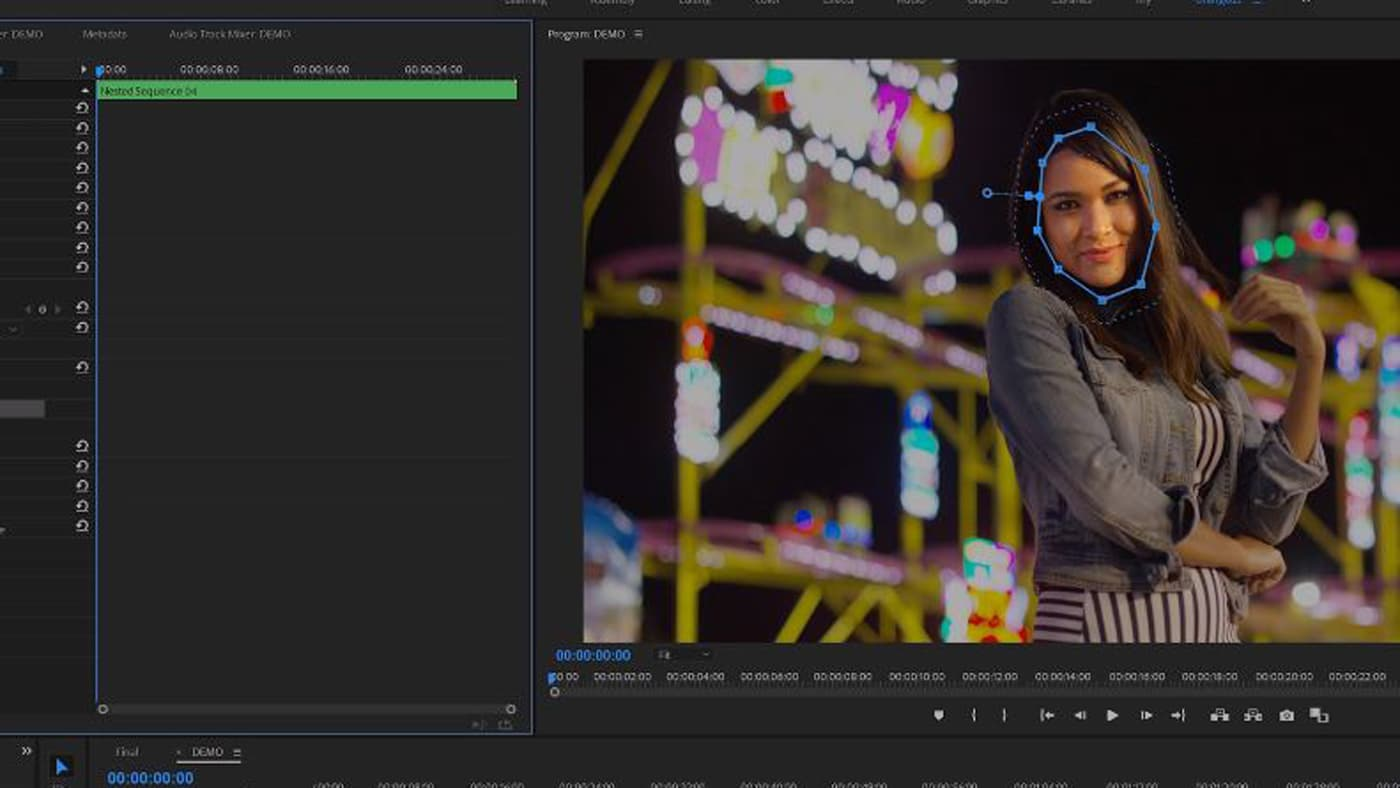 Video masking a face in Premiere Pro