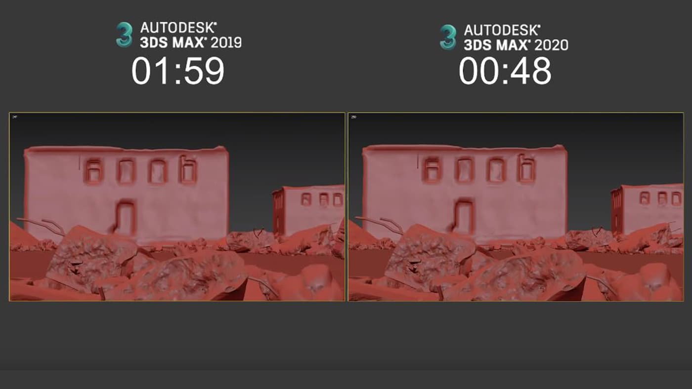 3ds Max 2020 faster rendering previews