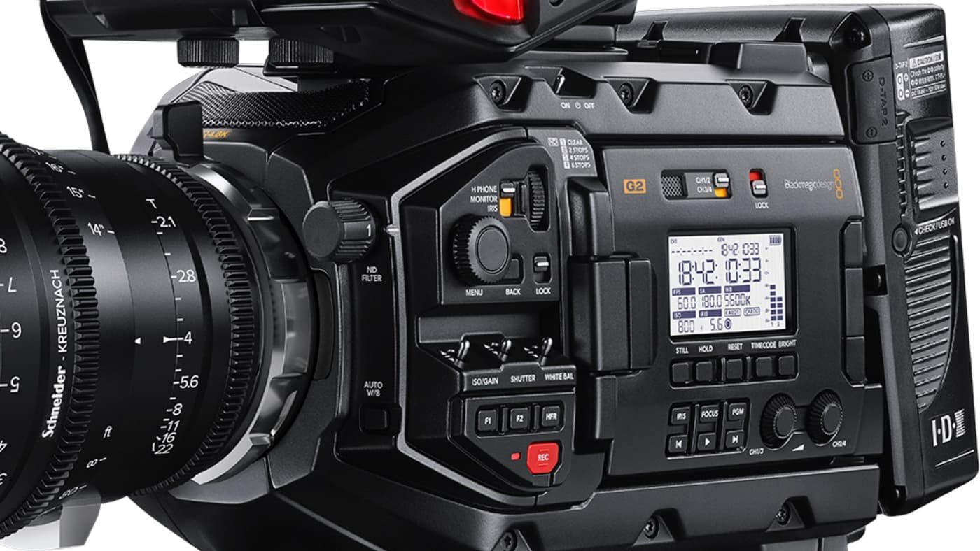 The new URSA Mini Pro 4.6K also improved the original's rolling shutter and audio