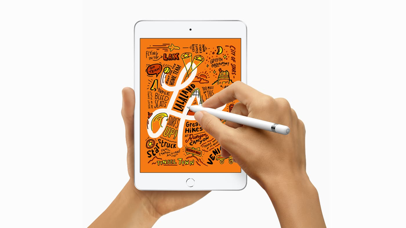 iPad being drawn on with Apple Pencil