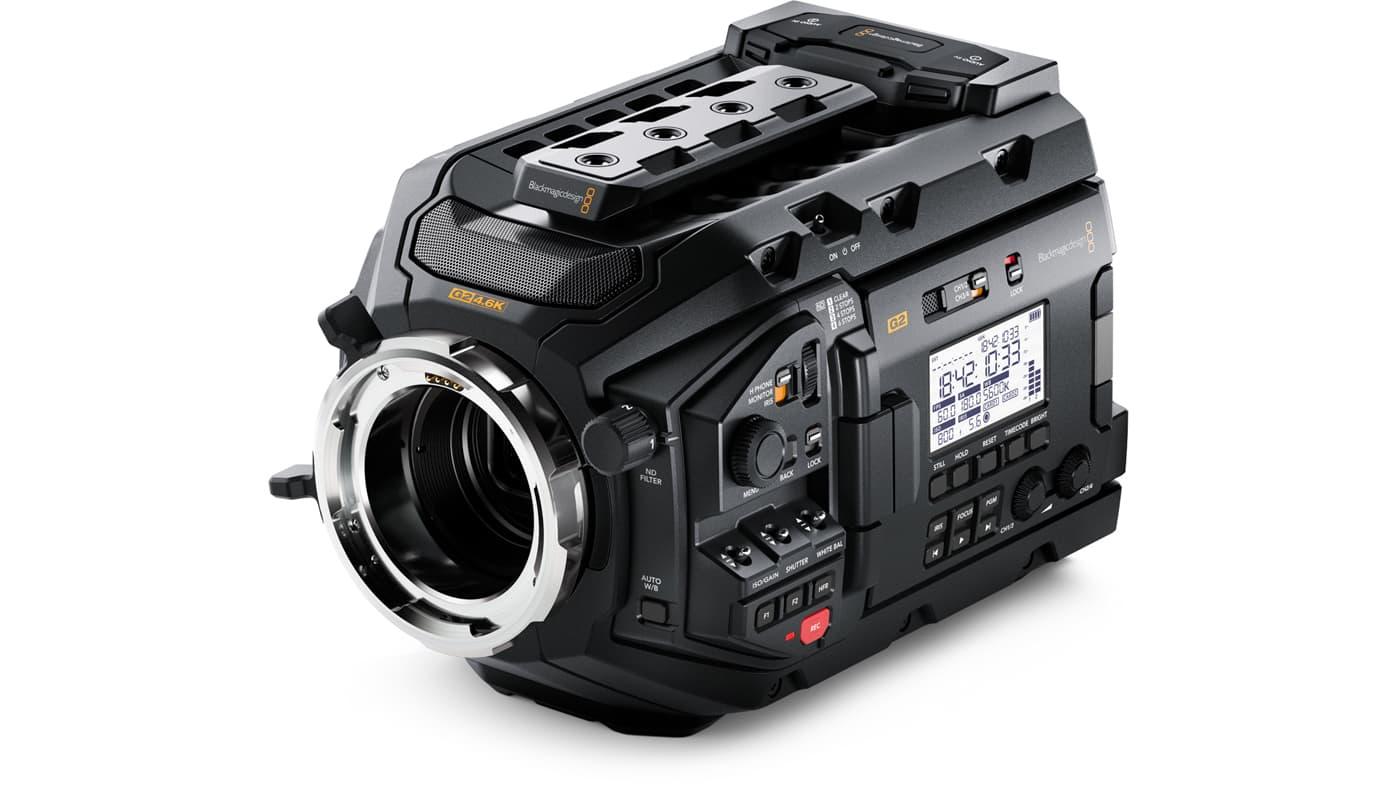 The URSA Mini Pro G2 features a Super 35 4.6K HDR image sensor