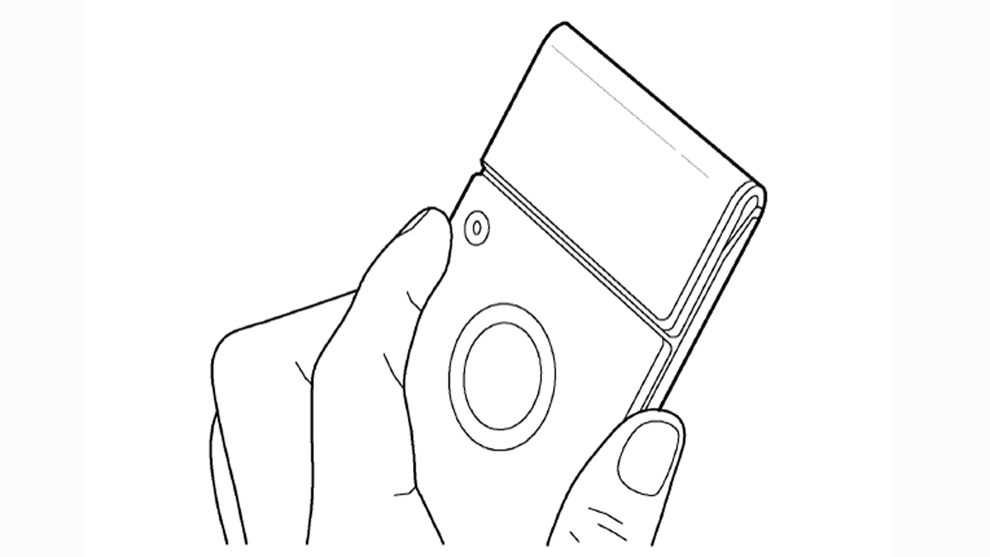 Samsung smartphone patent drawing camera removed