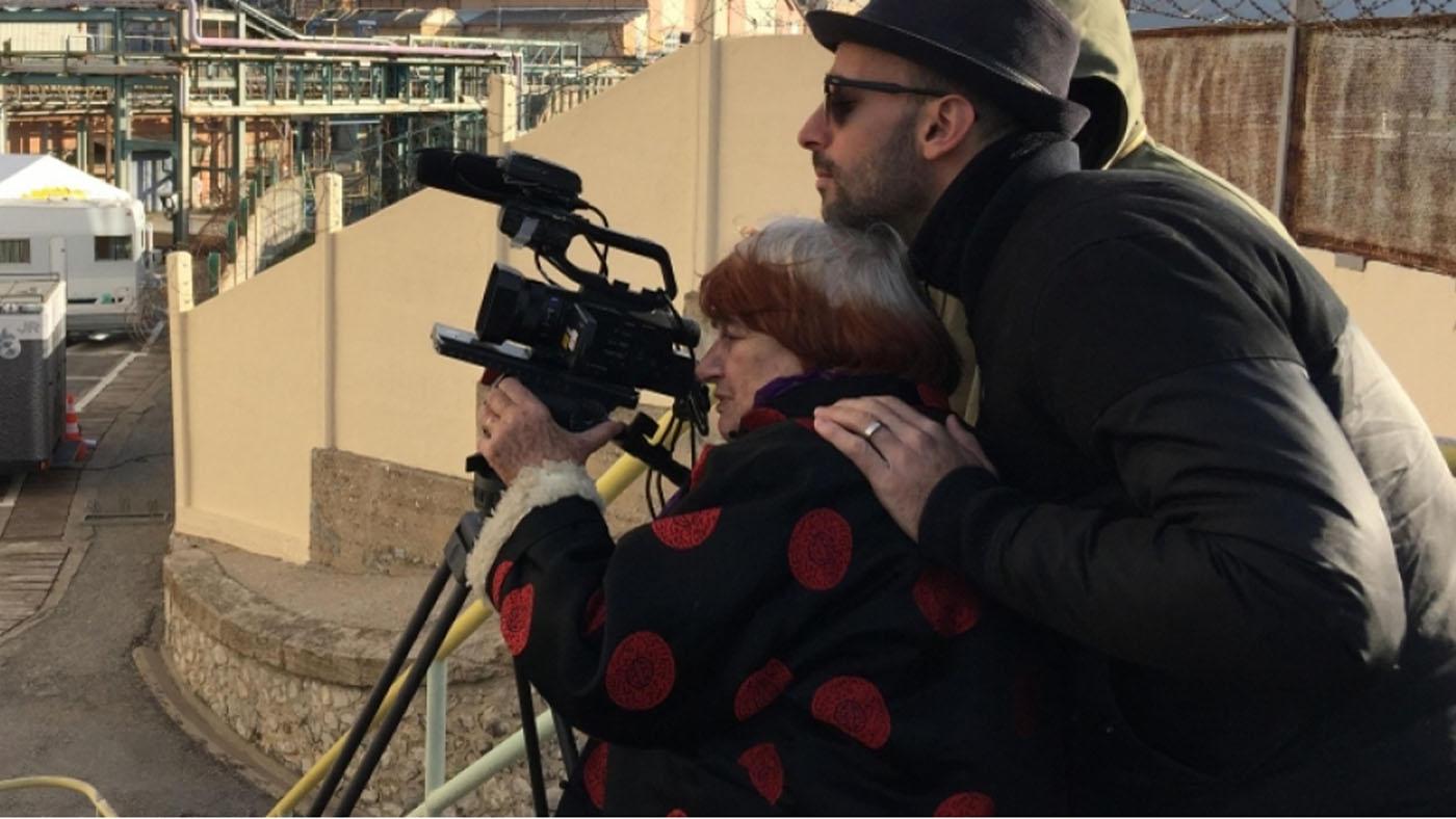 "Agnès Varda in the film ""Faces Places."""