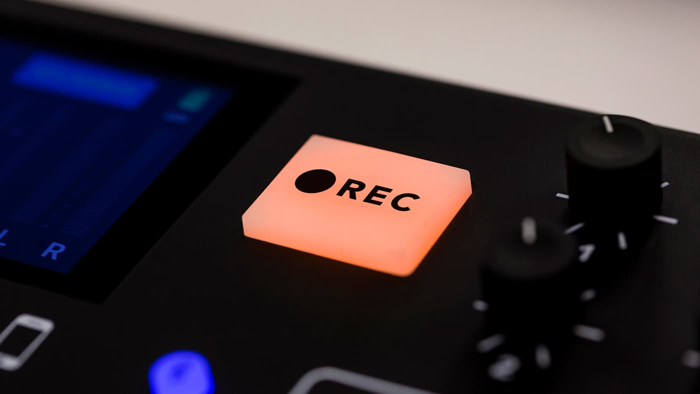 RØDECaster Pro REC button
