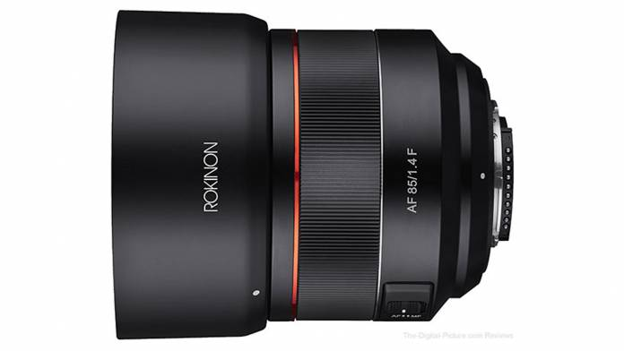 Rokinon AF 85mm F1.4 full frame lens for F mount