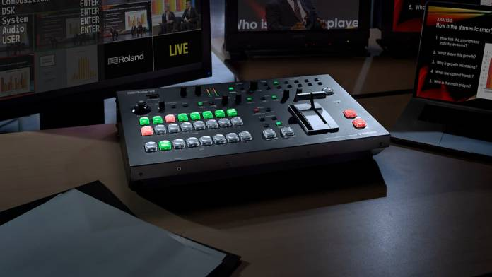 Roland debuts its V-600UHD switcher and VR-1HD AV mixer. Image courtesy Roland.