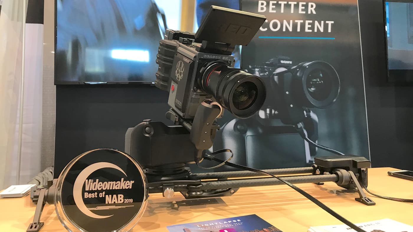Rhino Camera Gear motorized camera head wins Videomaker's Best Motion Control System at NAB 2019