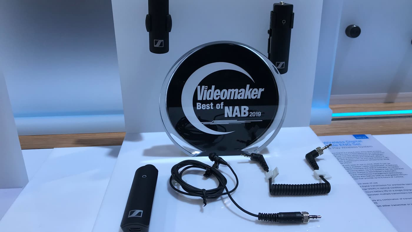 Sennheiser takes home Videomaker's Best Mic at NAB 2019 award thanks to the XS wireless digital lavalier set