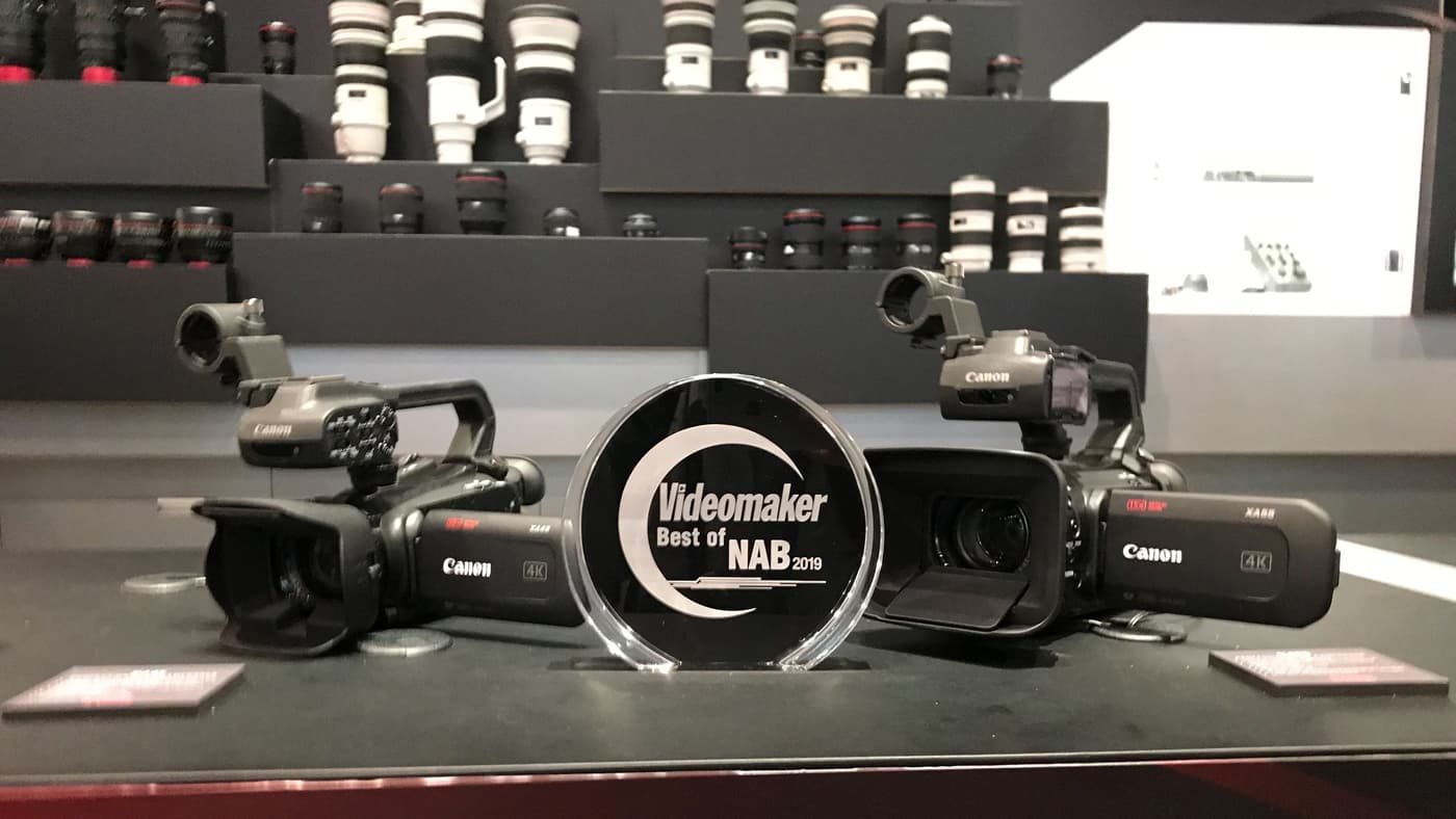 XA40 wins Videomaker's Best Camcorder award at NAB 2019