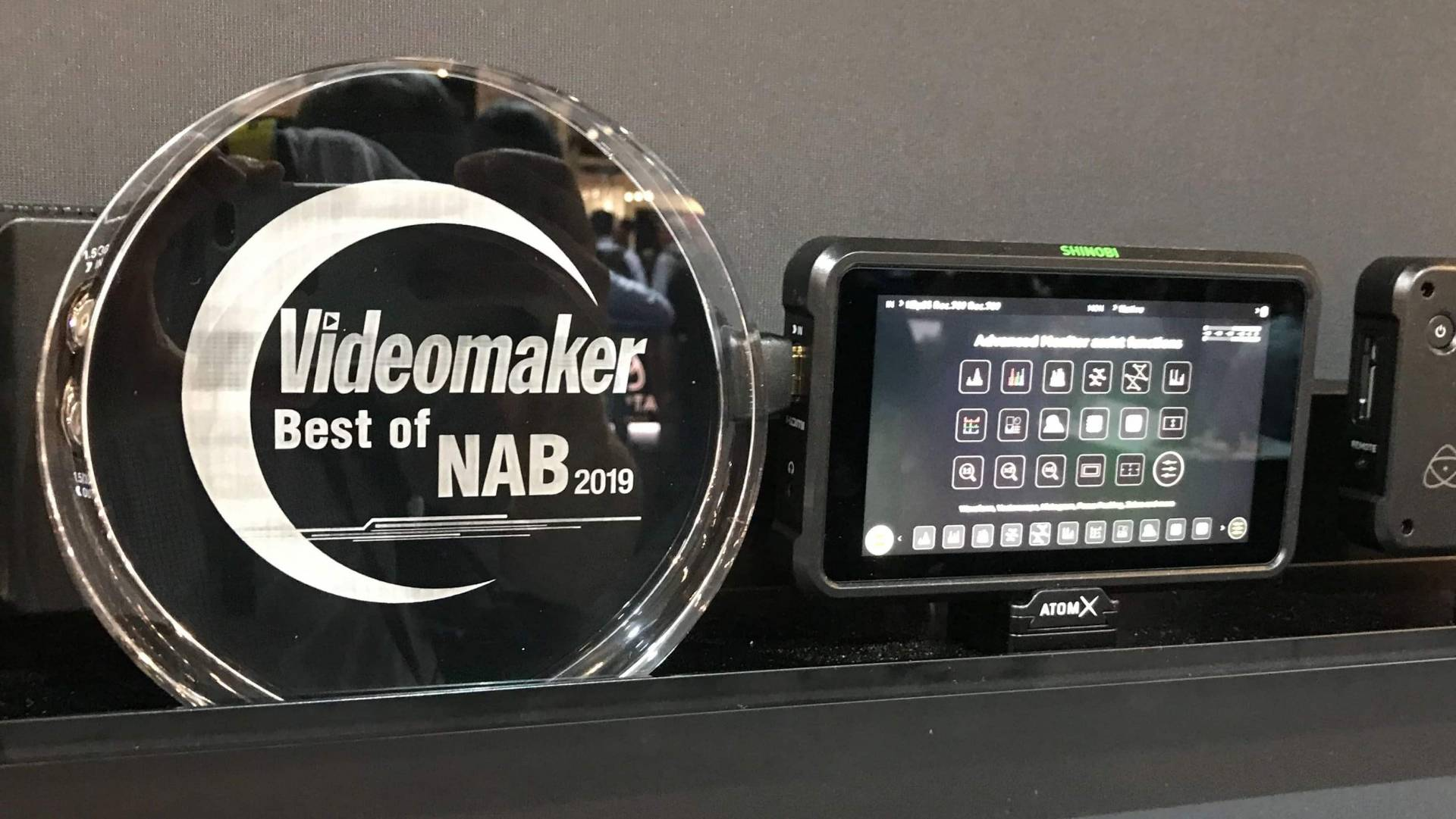Atomos Shinobi with Best of NAB award
