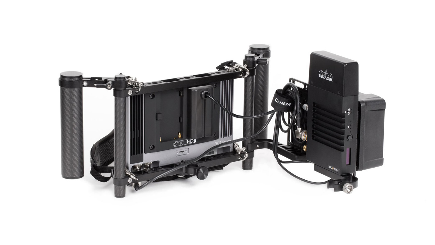 Wooden Camera's Director's Monitor Cage v3 can support any monitor under 9 inches