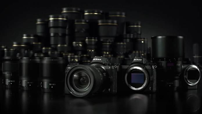 Nikon Z7 and Z6 in front of lenses