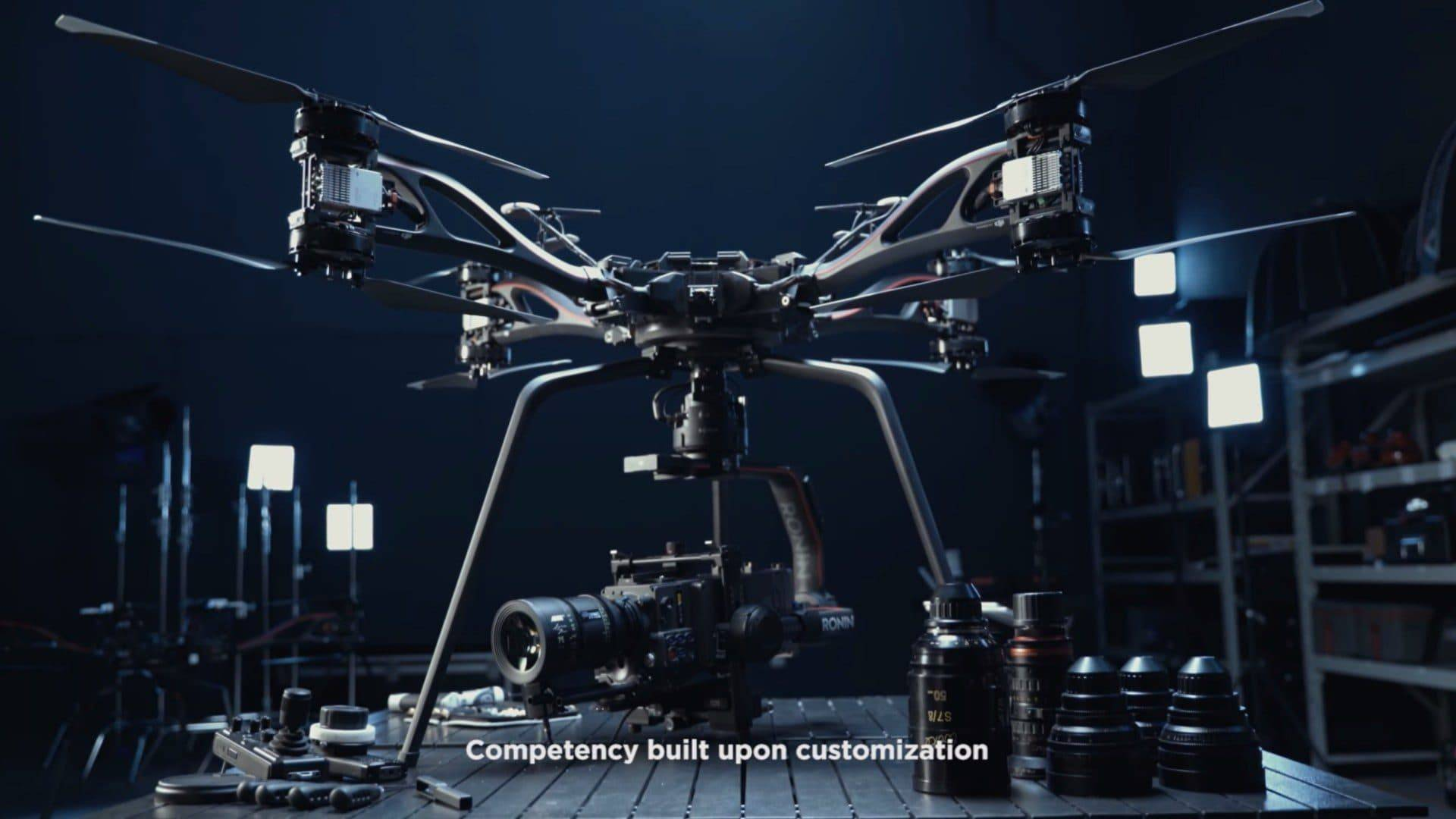 The DJI Storm can hold up to 41 pounds
