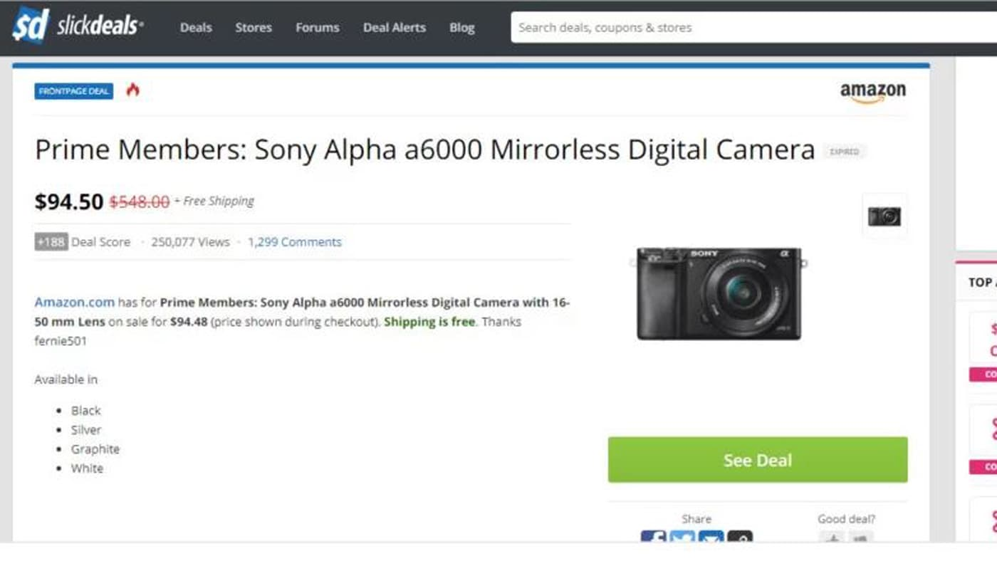 Amazon accidentally dropped the prices of many photography gear on Prime Day