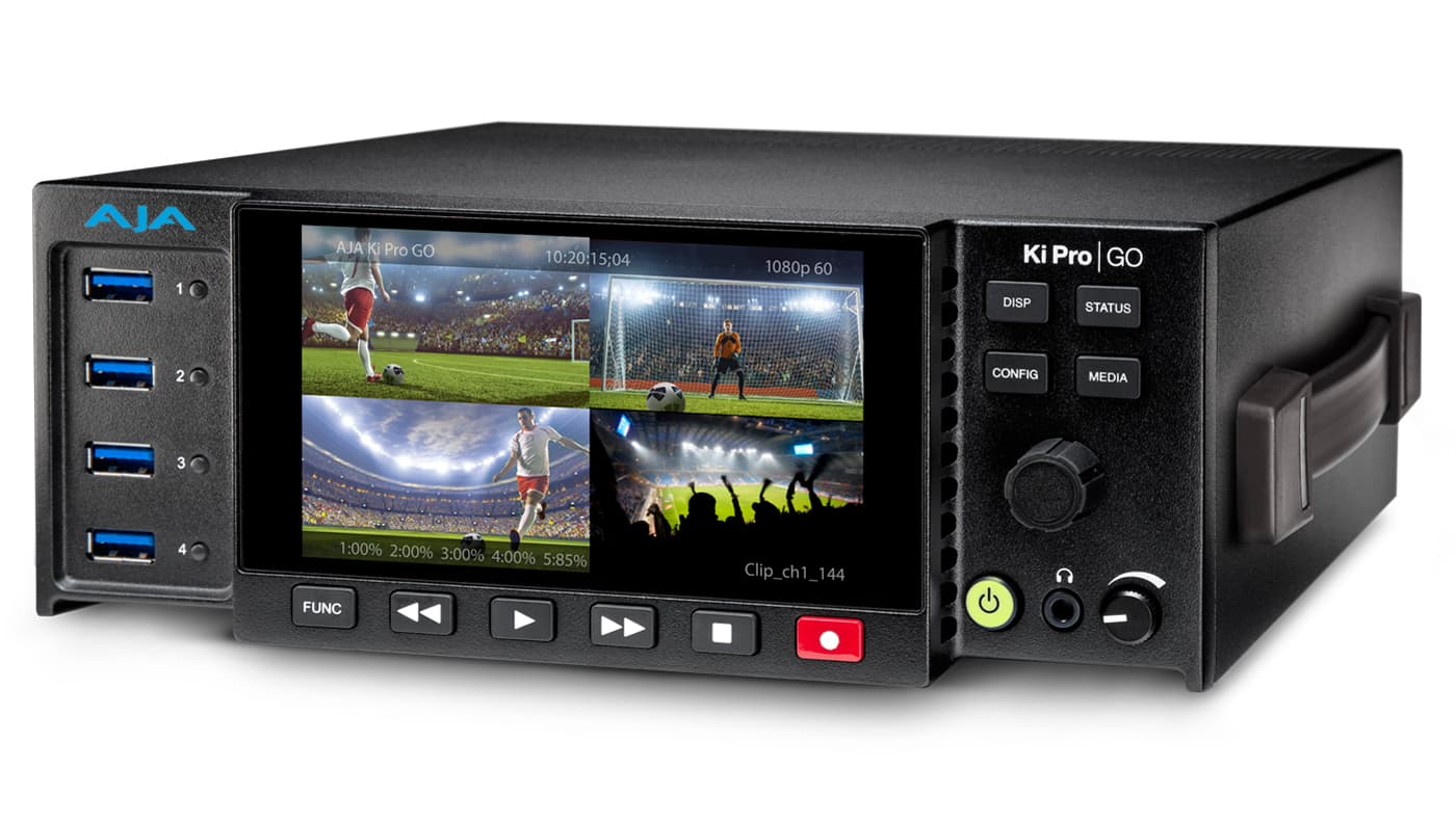 The Ki Pro GO offers up to 4-channels of simultaneous HD and SD recording.