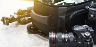Assortment of camera equipment