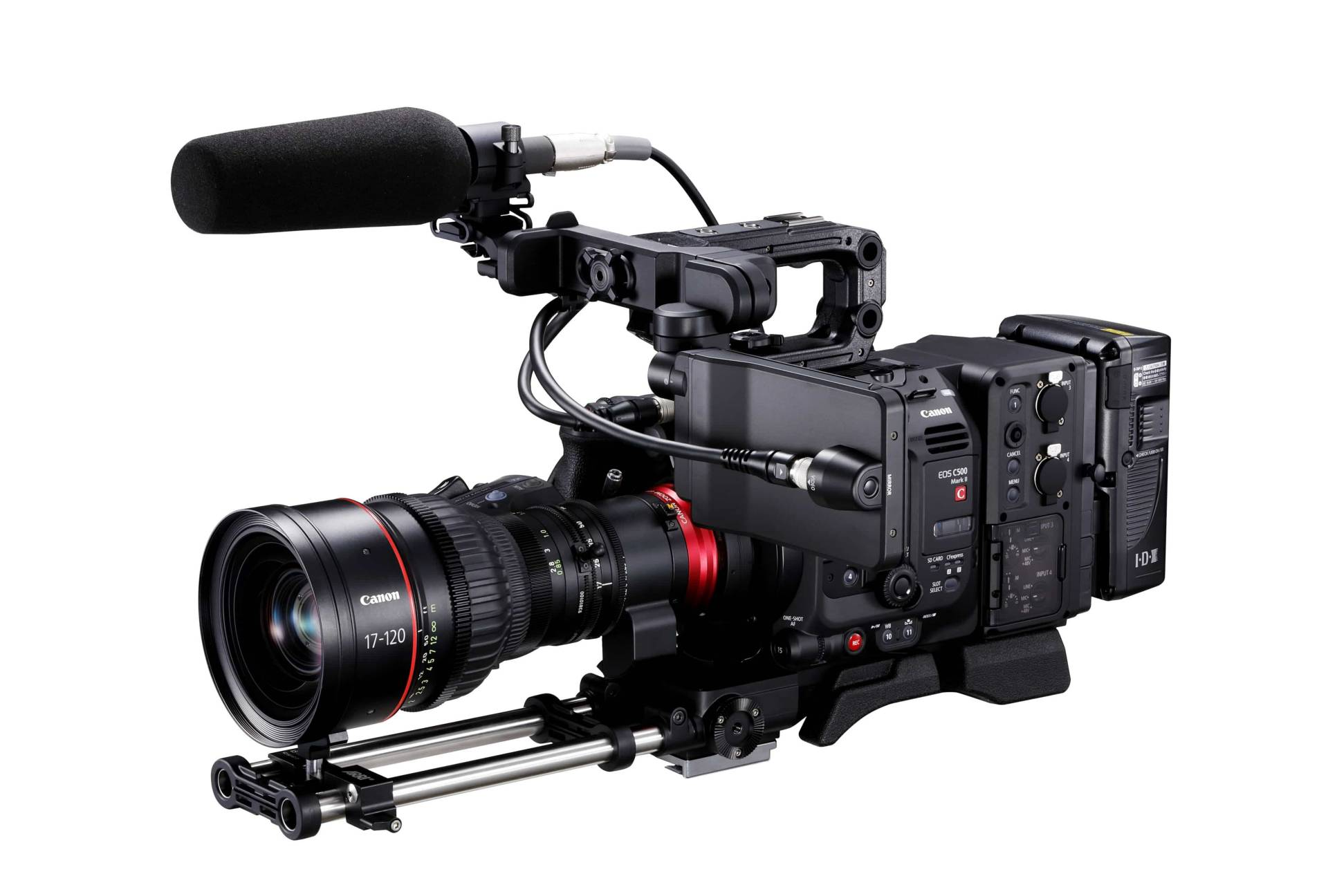 "According to Canon, the EOS C500 Mark II is ""quite modular"""