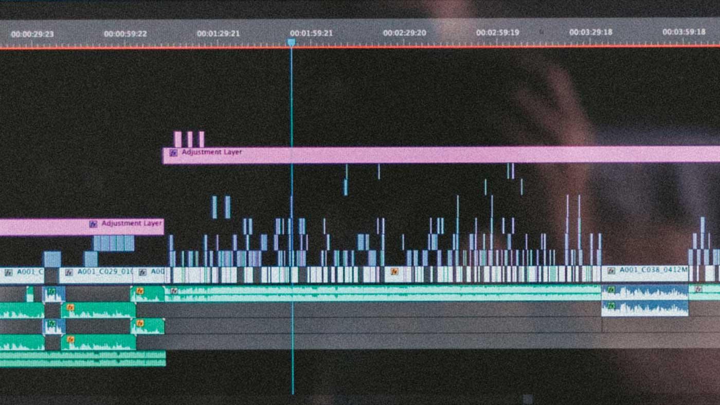 An editing timeline