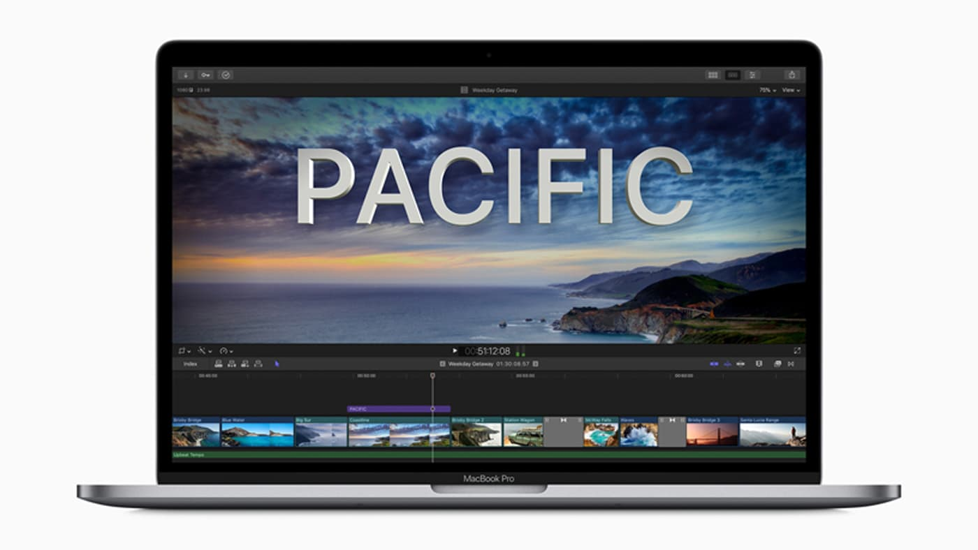 Final Cut Pro displayed on laptop