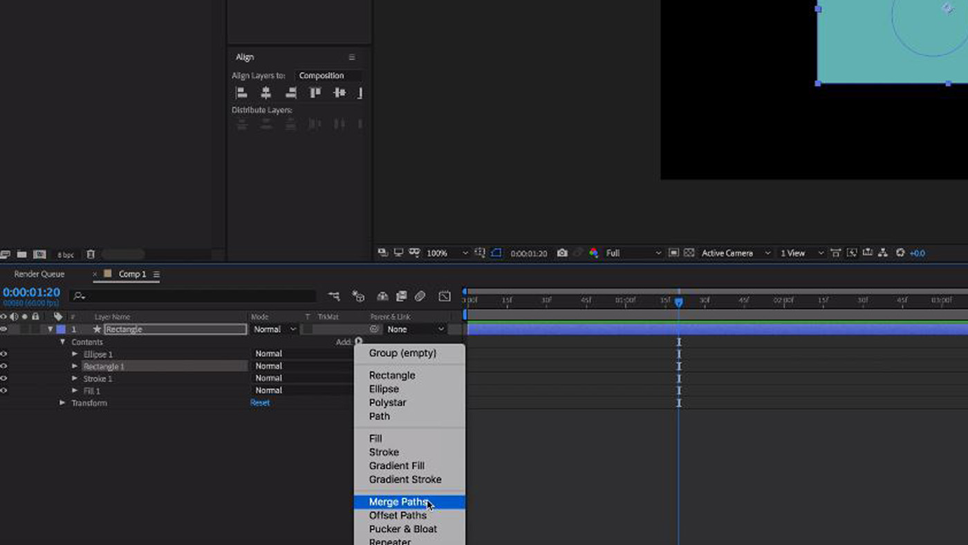Merge Paths in After Effects